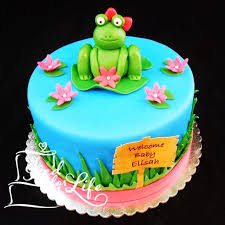 frog baby shower frog baby shower cake iced for