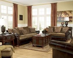 Leather With Fabric Sofas New Brown Leather And Fabric Sofa Fabrizio Design Brown