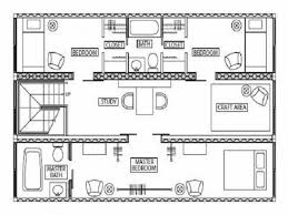 Floor Plan Blueprints Free by Beauteous Shipping Container House Plans With Open Floor Plan