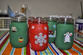 decorating your home for christmas painted christmas mason jar