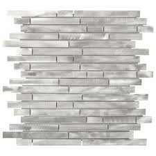 Home Depot Wall Tile Adhesive by Jeffrey Court Mystical Light 12 In X 12 In X 8 Mm Aluminum