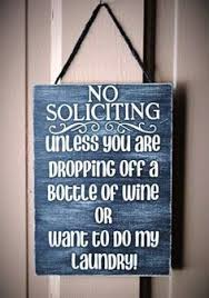funny no soliciting sign matte craft vinyl by camillesvinyldesigns