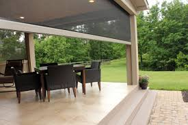 Roll Up Patio Screen by Retractable Screens For Patio U0026 Lanai Stoett Industries