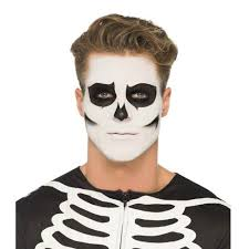 Skeleton Face Painting For Halloween by Smiffy U0027s Glow In The Dark Skeleton Face Paint Kit