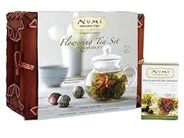 tea gift sets numi organic teapot and 6 flowering tea gift set expertly chosen