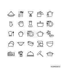 ustensiles de cuisines pictogrammes des ustensiles de cuisine fichier vectoriel libre de