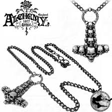gothic skullhammer thor s hammer necklace gothic jewellery