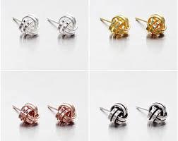 knot earrings knot earrings etsy