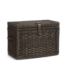 amazon com the basket lady wicker storage trunk wicker storage