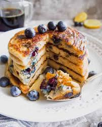 blueberry pancake the best paleo blueberry pancakes gf perchance to cook