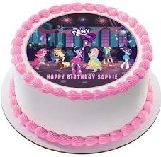 birthday cake toppers my pony equestria edible birthday cake or cupcake