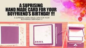 Handmade Cards For Birthday For Boyfriend Handmade Birthday Card For Your Boyfriend එය ග