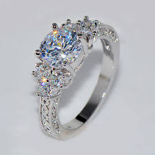 Diamond Sapphire Wedding Ring by Sapphire White Gold Filled Fashion Rings Ebay