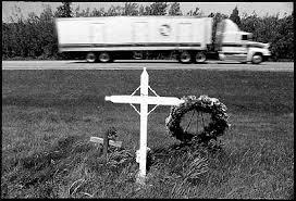 memorial crosses for roadside roadside memorials a photographic documentary by bill sson