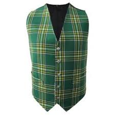 new mens scottish tartan waistcoat with thistle buttons in choice