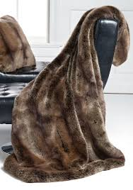 fur throws for sofas bed bath chic faux fur throw blanket with tufted leather armless