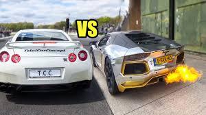 youtube lexus lfa vs nissan gtr nissan gtr r35 vs lamborghini aventador lp700 4 exhaust sound