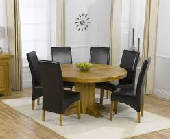 Enchanting Round Oak Dining Table And  Chairs  On Dining Room - Round kitchen table sets for 6