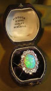 ebay rings opal images Antique victorian ring with 2 45 carats old miners cut diamonds jpg