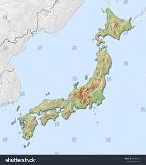 Map Japan Relief Map Japan 3drendering Stock Illustration 497970211