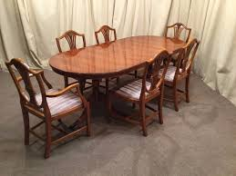 yew dining table u0026 6 chairs regency georgian repro 6 shield