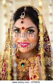 traditional dress up of indian weddings beautiful indian in traditional wedding dress stock photo