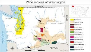 Map Washington State United States Map Of Vineyards Wine Regions
