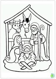 nativity coloring chuckbutt