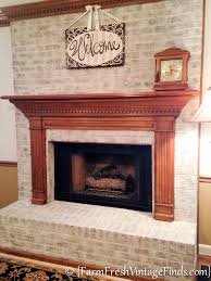 How To Clean Fireplace Bricks With Vinegar by How To Whitewash Bricks Using Annie Sloan Chalk Paint In Old White
