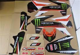 decoration annee 80 kit déco habillage moto cross moto enduro