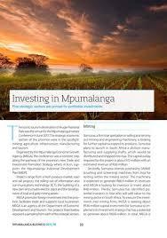 Seeking Mpumalanga Mpumalanga Business 2017 18 By Global Africa Network Issuu