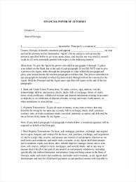 Maryland Power Of Attorney Form by 6 Financial Power Of Attorney Forms Free Sample Example Format