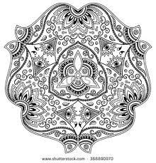 vector henna tattoo mandala mehndi style stock vector 351144695