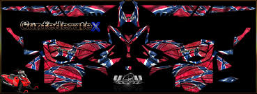 Rebel Flags Images Skidoo Confederate Sled Wrap