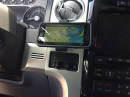 cell phone mount ford trucks f150 f250 f350 perfectly