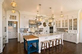 Backsplash Wallpaper For Kitchen Modern Traditional Kitchen Design Oak Cabinet Pedestal Stools