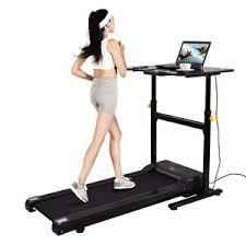 Computer Desk Treadmill Goplus Electric Treadmill Standing Walking Desk Tabletop Work