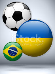 Ukraine Flag Ukraine Flag With Soccer Ball Background Stock Vector Freeimages Com