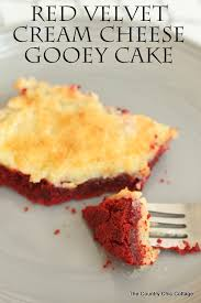 red velvet cream cheese gooey cake recipe the country chic cottage