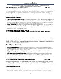 Resume Project Manager Construction J Ewing Project Manager Iii Resume