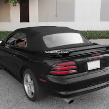 Black Mustang Convertable Mustang Convertible 1994 2004 Black With Plastic Window