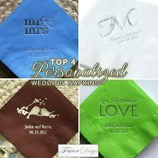 printed wedding napkins top 4 personalized wedding napkins