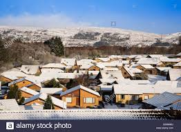 Winter Houses by Houses Covered With Snow In Winter Erskine Renfrewshire