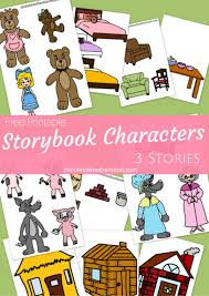 printable story book characters red riding hood goldilocks