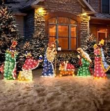 Outdoor Lighted Christmas Nativity Star Decoration by Christmas Decorations Collection On Ebay
