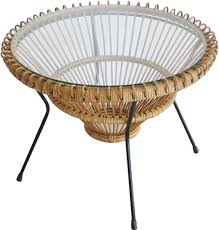 rattan coffee table by franco albini 1950s design market