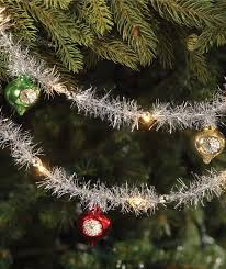 indent ornament tinsel led light garland bethany