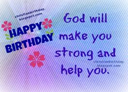 christian card happy birthday to you nice wishes christian