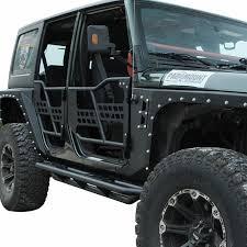 4 door jeep rock crawler 07 16 jeep wrangler jk 4dr tubular safari doors w o mirror