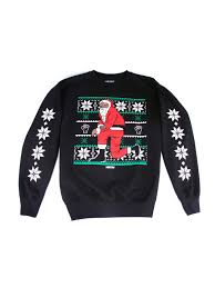 nas releases a collection kneeling santa christmas sweaters